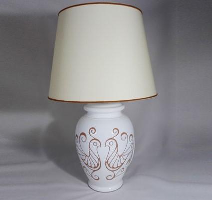 Lampade Ceramica Artigianale: Lume esagonale ceramiche di caltagirone ripullo.