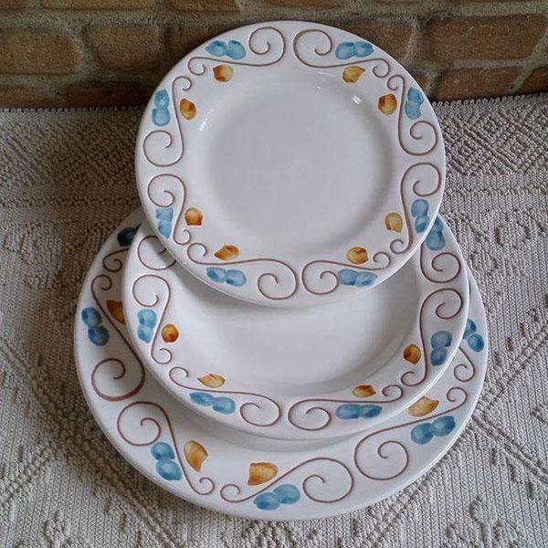 Servizio di piatti tradizionali azzurro giallo 25cm - Servizio di piatti ikea ...